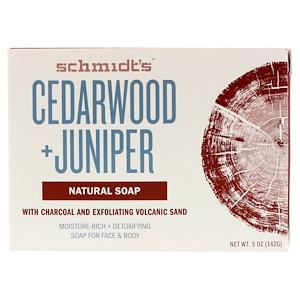 Schmidt's, Natural Soap, Cedarwood + Juniper, 5 oz (142 g) отзывы