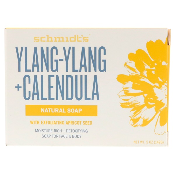 Schmidt's Naturals, Natural Soap, Ylang-Ylang + Calendula, 5 oz (142 g) (Discontinued Item)