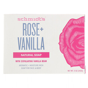 Schmidt's, Natural Soap, Rose + Vanilla, 5 oz (142 g) отзывы