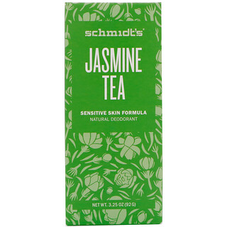 Schmidt's Natural Deodorant, Sensitive Skin Formula, Jasmine Tea, 3.25 oz (92 g)