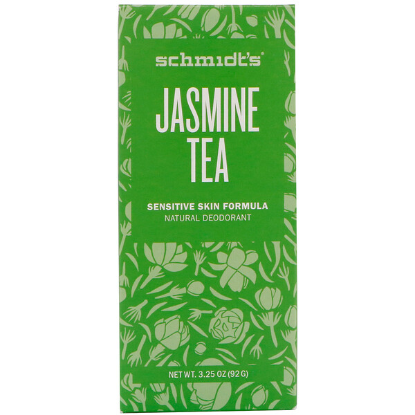 Natural Deodorant, Sensitive Skin Formula, Jasmine Tea, 3.25 oz (92 g)