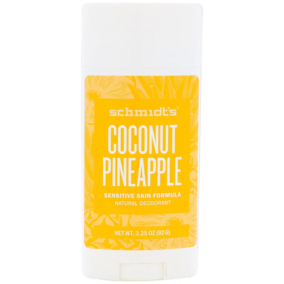 Купить Schmidt's Формула для чувствительной кожи, кокос и ананас, 3, 25 унц. (92 г)