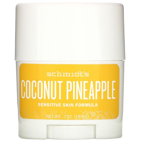 Schmidt's Naturals, Natural Deodorant, Sensitive Skin Formula, Coconut Pineapple, .7 oz (19.8 g)