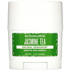 Schmidt's, Natural Deodorant, Sensitive Skin Formula, Jasmine Tea, 0.7 oz (19.8 g) отзывы