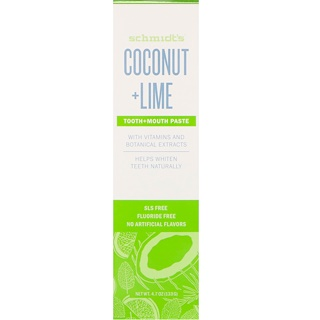 Schmidt's Naturals, Tooth + Mouth Paste, Coconut + Lime, 4.7 oz (133 g)