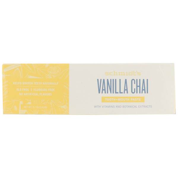 Schmidt's Naturals, Tooth + Mouth Paste, Vanilla Chai, 4.7 oz (133 g) (Discontinued Item)