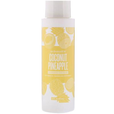 Schmidt's Plant-Based Body Wash, Coconut Pineapple, 16 fl oz (473 ml)