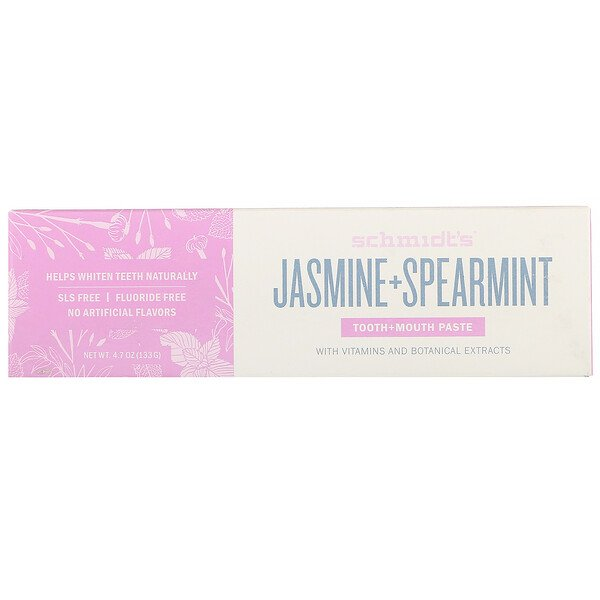 Schmidt's Naturals, Tooth + Mouth Paste, Jasmine + Spearmint, 4.7 oz (133 g) (Discontinued Item)