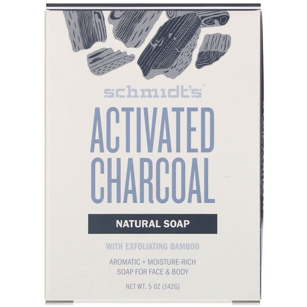 Natural Soap for Face & Body, Activated Charcoal, 5 oz (142 g)