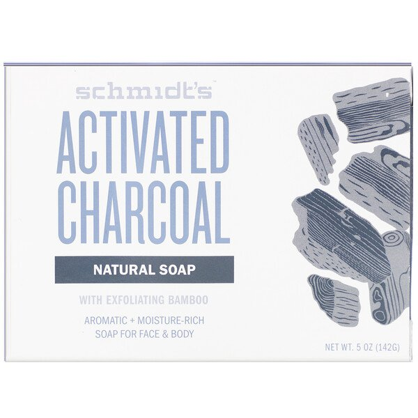 Natural Soap, Activated Charcoal, 5 oz (142 g)