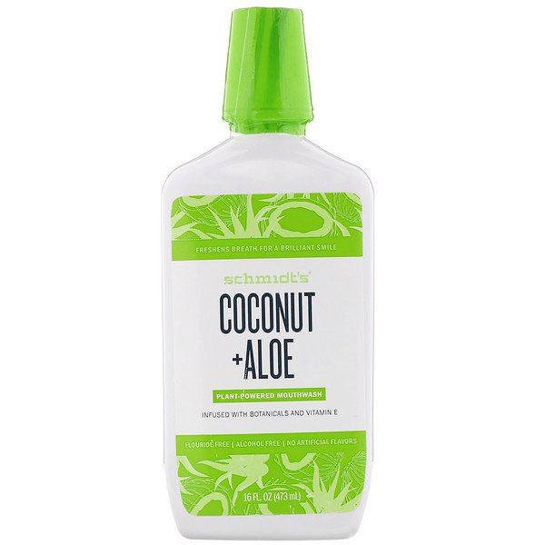 Plant-Powered Mouthwash, Coconut + Aloe, 16 fl oz (473 ml)
