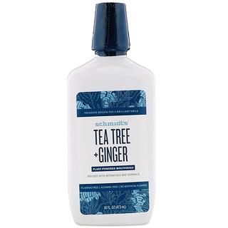 Schmidt's, Plant-Powered Mouthwash, Tea Tree + Ginger, 16 fl oz (473 ml)