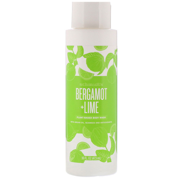 Plant-Based Body Wash, Bergamot + Lime, 16 fl oz (473 ml)