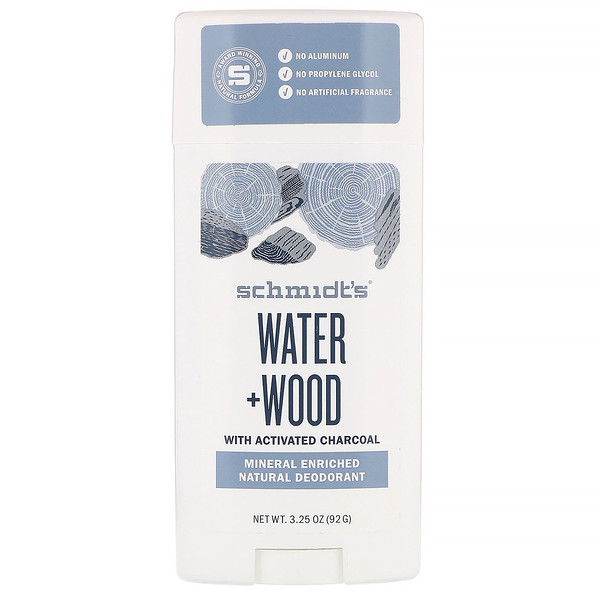 Natural Deodorant, Water + Wood, 3.25 oz (92 g)