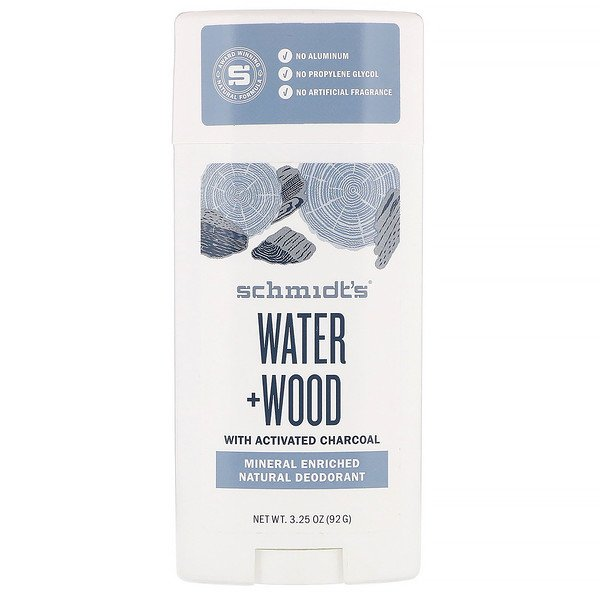 Schmidt's Naturals, Natural Deodorant, Water + Wood, 3.25 oz (92 g)