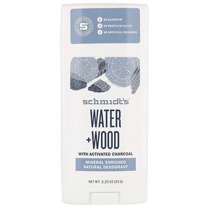 Schmidt's, Natural Deodorant, Water + Wood, 3.25 oz (92 g) отзывы