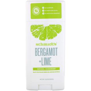 Schmidt's Naturals, Bergamot + Lime, 3.25 oz (92 g)