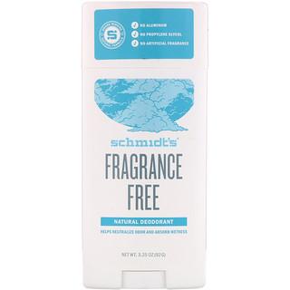 Schmidt's Naturals, Natural Deodorant, Fragrance-Free, 3.25 oz (92 g)