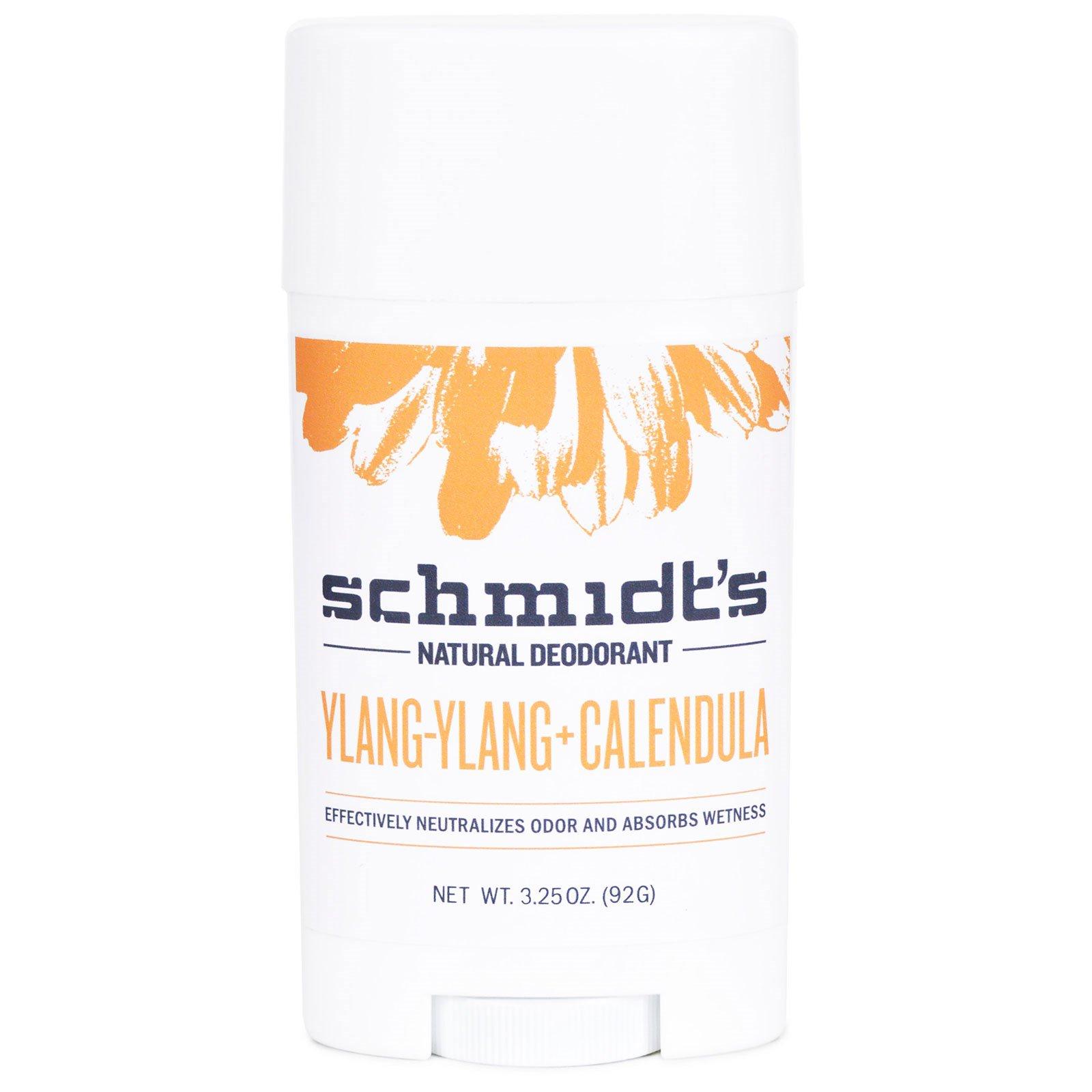 Schmidt's Natural Deodorant, Иланг-Иланг + календула, 3,25 унции (92 г)