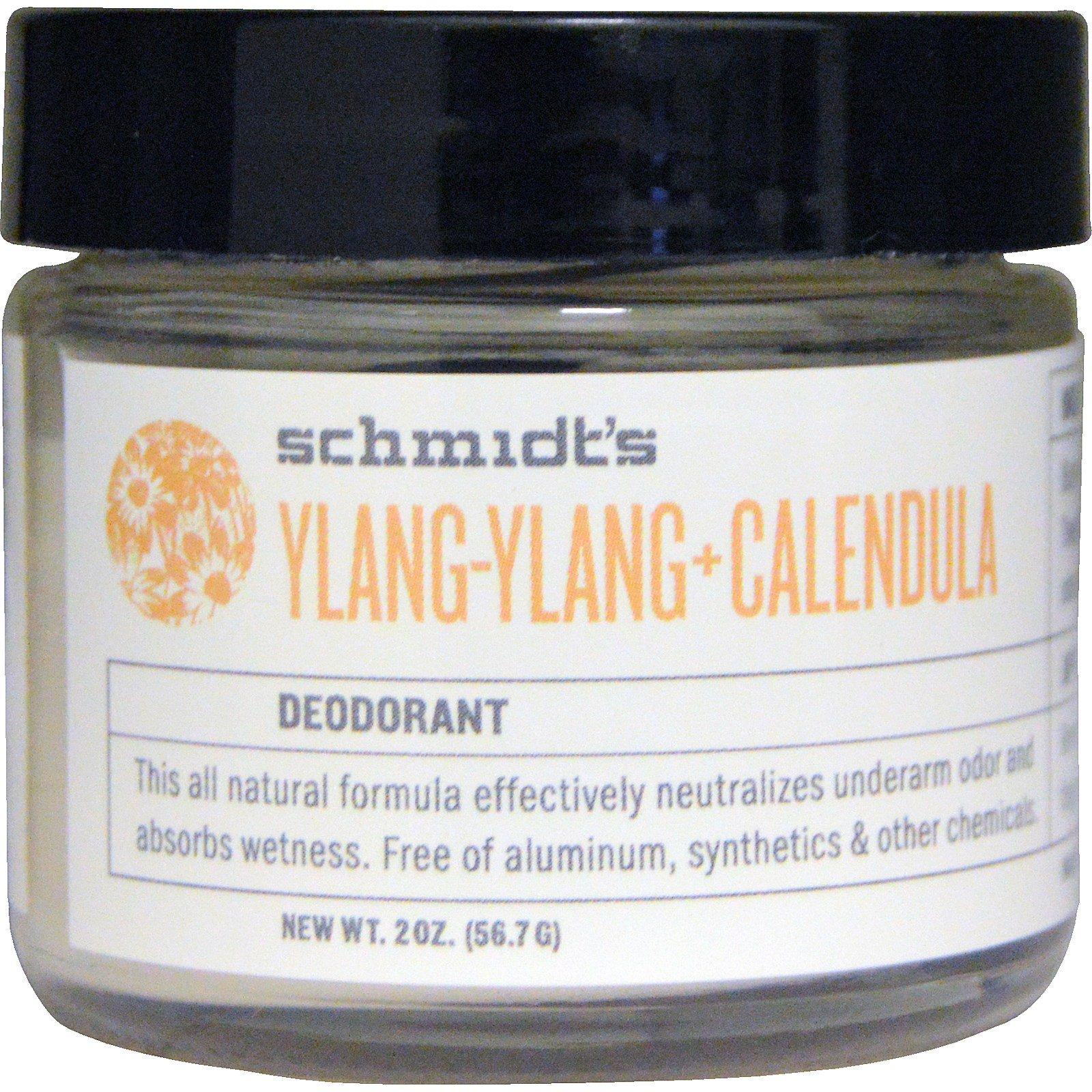 Schmidt's Natural Deodorant, Иланг-иланг + календула, 2 унции (56,7 г)