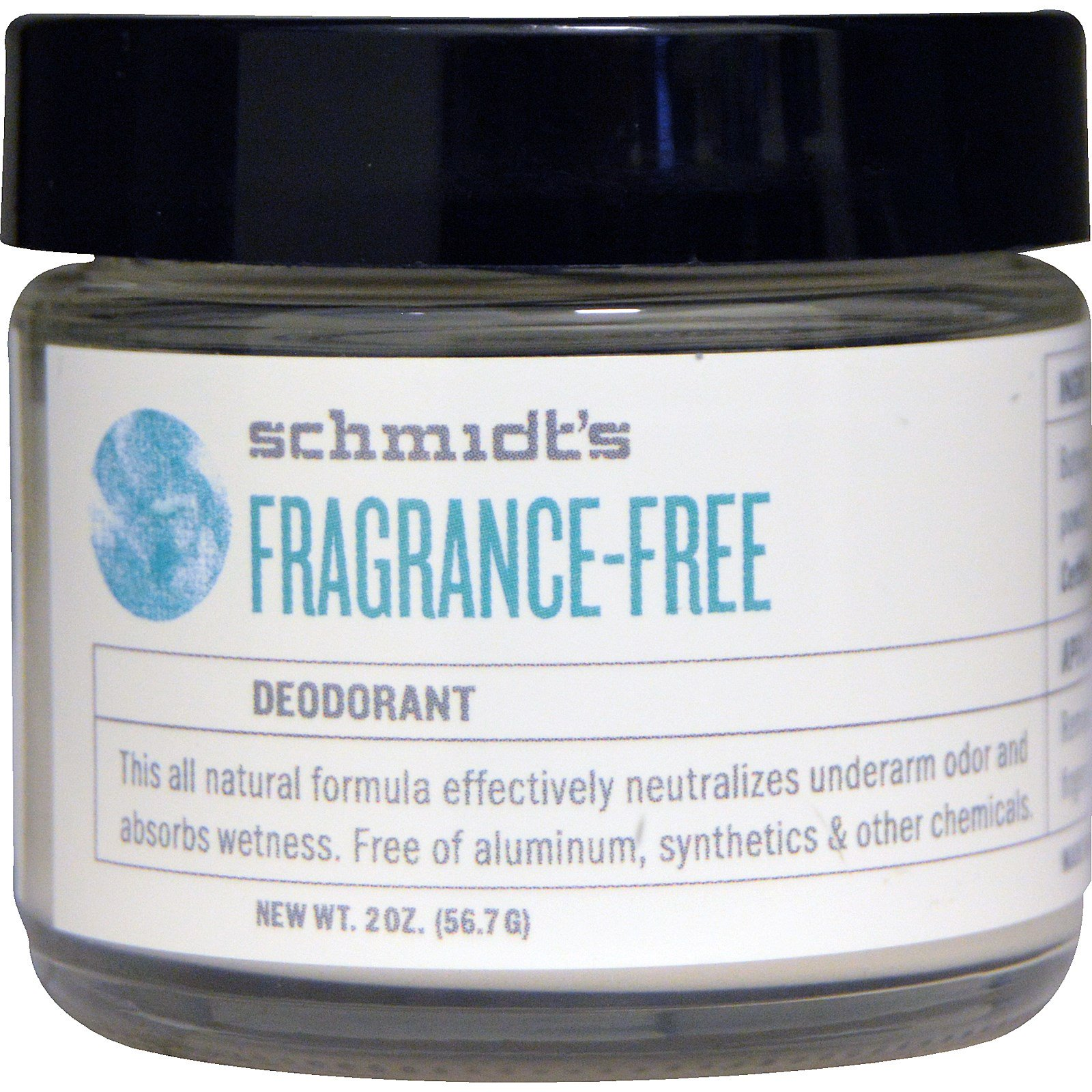 Schmidt's Natural Deodorant, Fragrance Free, 2 oz (56.7 g)