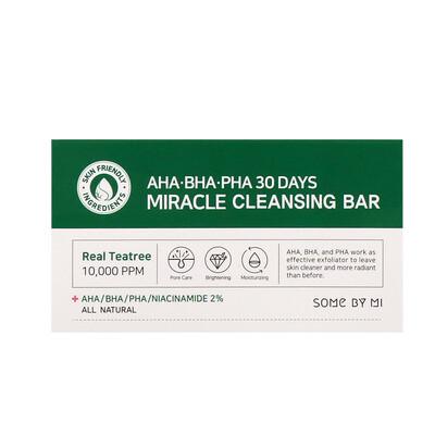 Купить Some By Mi Кусковое мыло с кислотами AHA, BHA и PHA, для устранения несовершенств кожи за 30дней, 160г