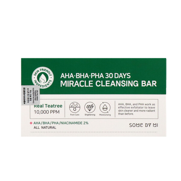 Some By Mi, AHA.BHA.PHA 30 Days Miracle Cleansing Bar, 160 g