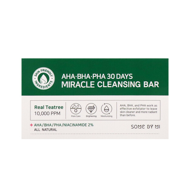 AHA. BHA. PHA 30 Days Miracle Cleansing Bar, 106 g