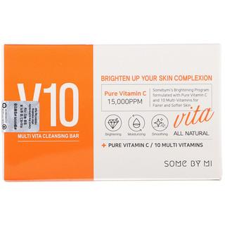 Some By Mi, V10 Multi Vita Cleansing Bar, 95 g