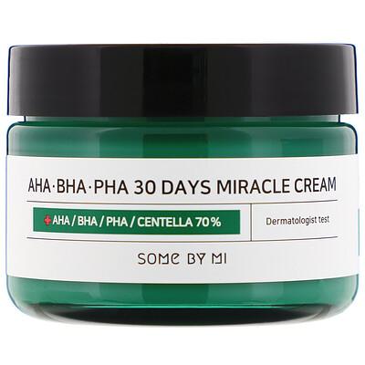 Купить Some By Mi Крем с кислотами AHA, BHA, и PHA, для устранения несовершенств кожи за 30дней, 60г