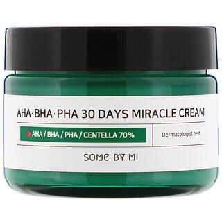 Some By Mi, Крем с кислотами AHA, BHA, и PHA, для устранения несовершенств кожи за 30дней, 60г