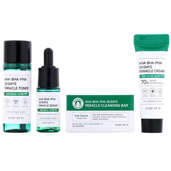 Some By Mi, AHA.BHA.PHA, 30 Days Miracle Starter Edition, Kit com 4 Unidades
