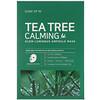 Some By Mi, успокаивающая тканевая маска с экстрактом чайного дерева для сияния кожи, 10шт. по 25г
