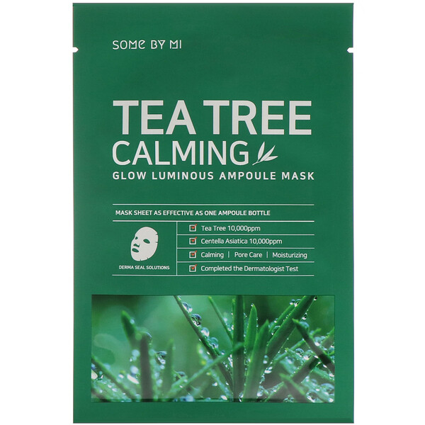 Glow Luminous Ampoule Mask, Tea Tree Calming, 10 Sheets, 25 g Each