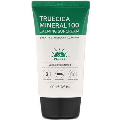 Some By Mi Успокаивающий солнцезащитный крем Truecica Mineral 100, SPF 50+ PA++++, 50 мл (1,69 жидк. унции)