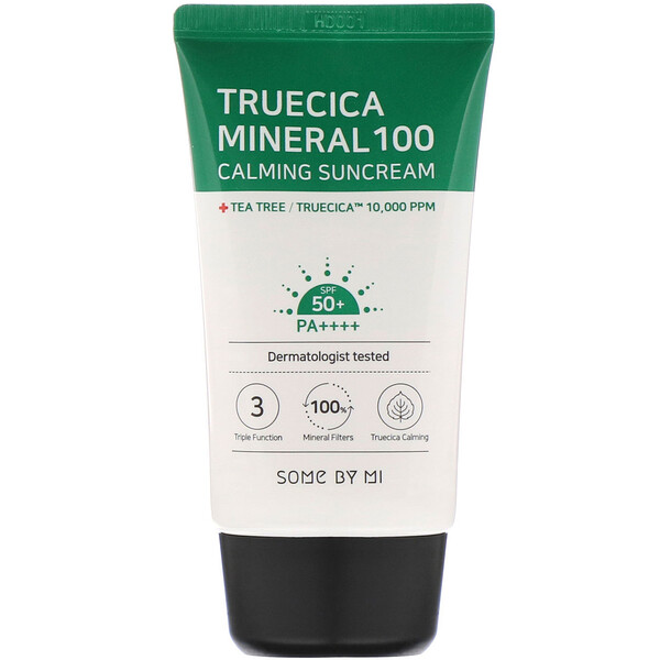 Truecica Mineral 100 Calming Suncream, SPF 50+ PA++++, 1.69 fl oz (50 ml)