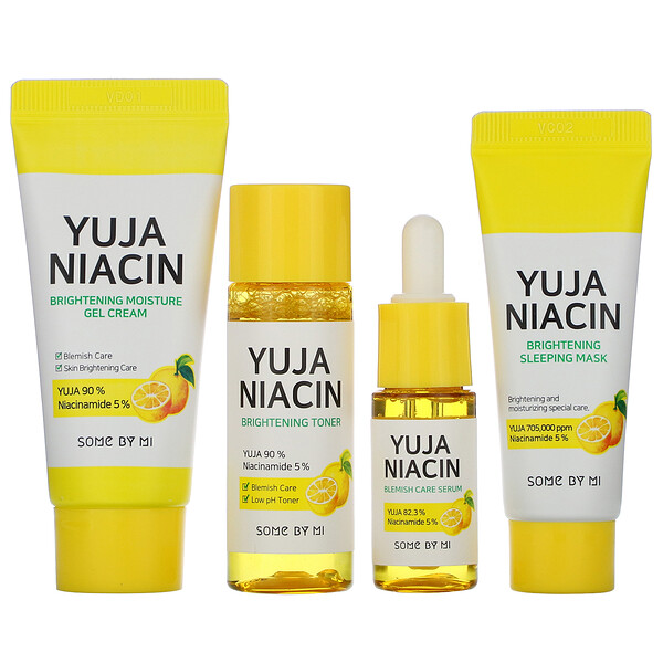 Yuja Niacin 30 Days Brightening Starter Kit, 4 Piece Kit