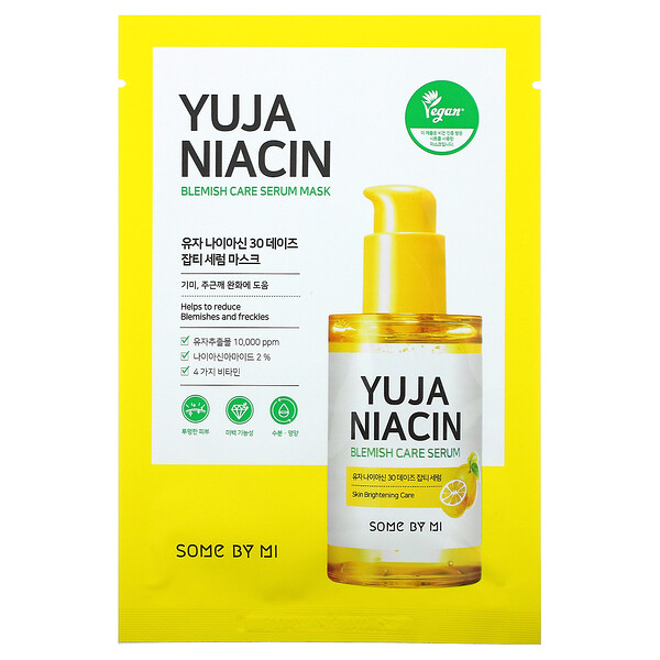 Yuja Niacin, Blemish Care Serum Mask, 10 Sheets, 0.88 oz (25 g) Each