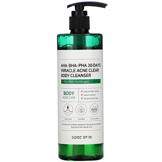 Some By Mi, Miracle Acne Clear, очищающее средство для лечения акне на теле, 400г (14,10унций)
