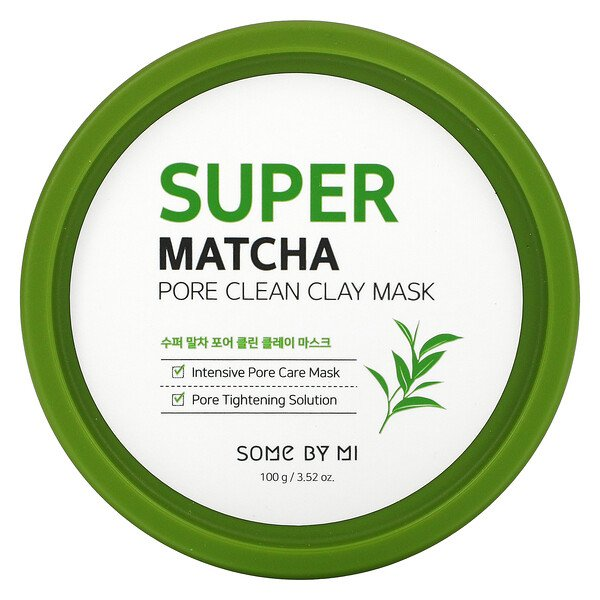 Some By Mi, Super Matcha Pore Clean Clay Mask, 3.52 oz (100 g)