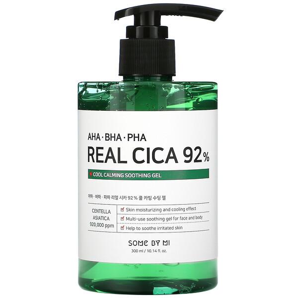 AHA/BHA/PHA Real Cica 92% Cool Calming Soothing Gel, 10.14 fl oz (300 ml)
