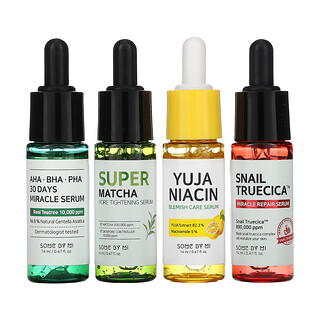Some By Mi, Total Care Serum Trial Kit,  4 Piece Set