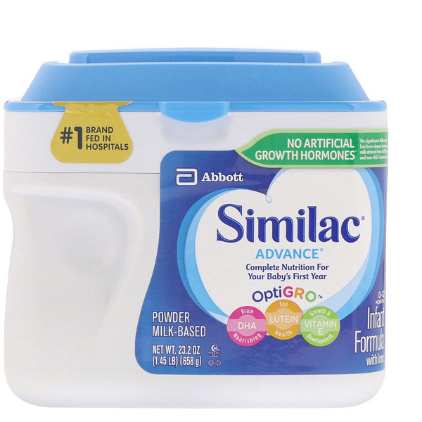 Similac, Advance, Infant Formula with Iron, 0-12 Months, 1.45 lb (658 g) (Discontinued Item)