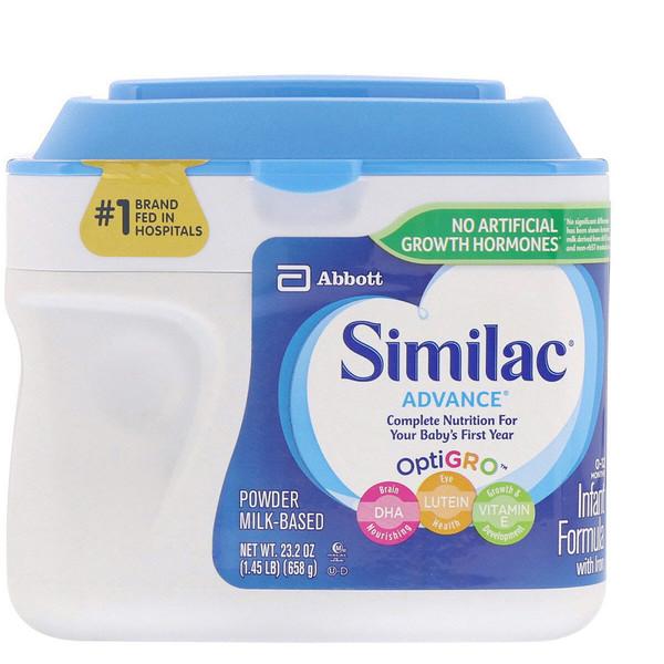 Similac, Advance, Infant Formula with Iron, 0-12 Months, 1.45 lb (658 g)