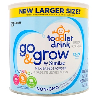 Similac, Toddler Drink, Go & Grow, 12-24 Months, 1.5 lbs (680 g)