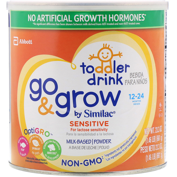 Similac, Toddler Drink, Go & Grow, Sensitive, 12-24 Months, 23.3 oz (661 g)