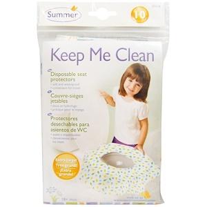Summer Infant, Keep Me Clean, одноразовые салфетки для унитаза, 10 салфеток