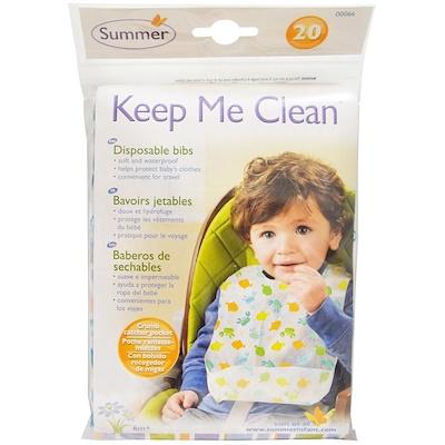 Summer Infant Keep Me Clean, Disposable Bibs, 20 Bibs