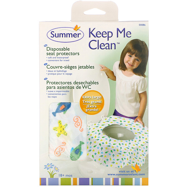 Summer Infant, Keep Me Clean Disposable Seat Protectors, 18+ Months, 20 Pack