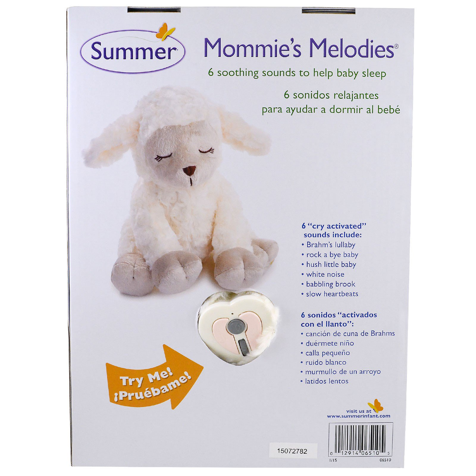 Summer Infant, Lamb, Mommie's Melodies, Birth & Up (Discontinued Item)